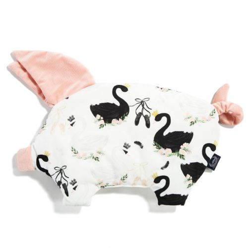 La Millou MOONLIGHT SWAN SLEEPY PIG PILLOW (POWDER PINK)
